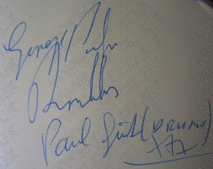 [the ramblers george and paul autograph 1960s]