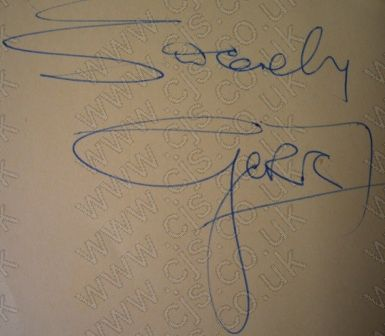 [gerry marsdon gerry and the pacemakers autograph 1960s]
