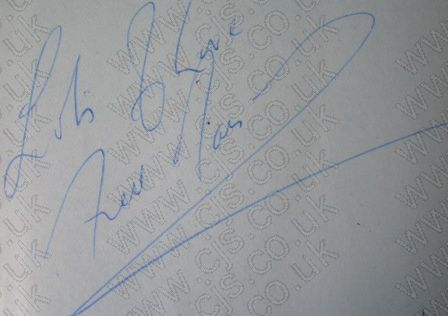 [fred marsdon gerry and the pacemakers autograph 1960s]