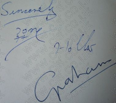 [hollies tony, chaz and graham autograph 1960s]