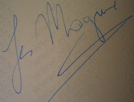 [les maquire gerry and the pacemakers autograph 1960s]