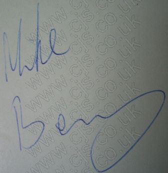 [mike berry autograph 1960s]