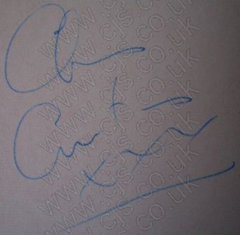 [searchers chris curtis autograph 1960s]