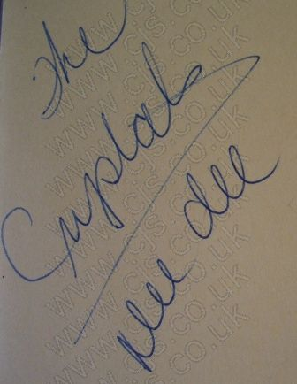 [the crystals dee dee autograph 1960s]
