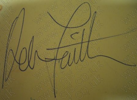 [adam faith autograph 1960s]