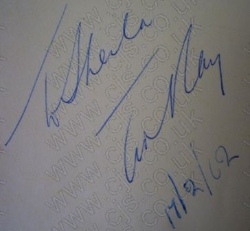 [ted ray autograph 1960s]
