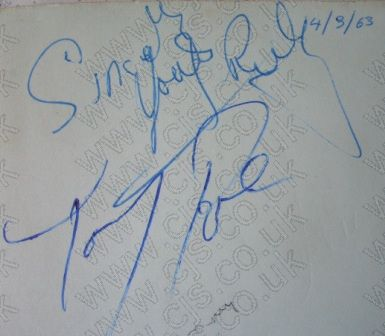[tommy roe autograph 1960s]