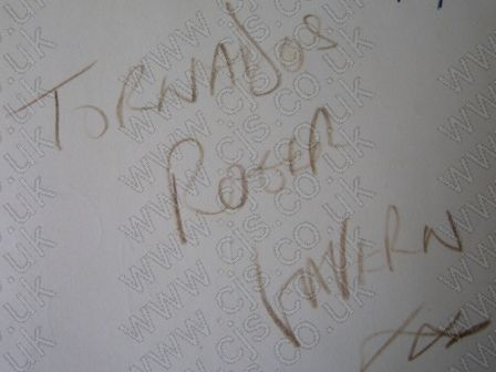 [the tornados roger lavern autograph 1960s]