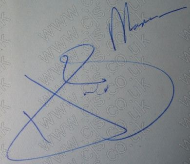 [shadows hank marvin autograph 1960s]