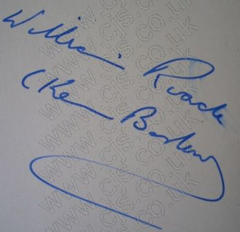 [ken barlow william roach autograph 1960s]