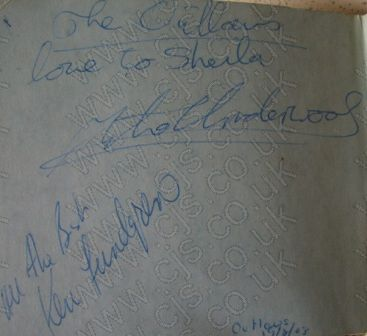 [the outlaws mixk underwood and ken lundgren autograph 1960s]