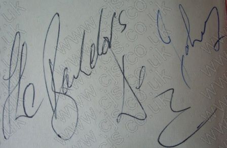 [bachelors dec and johny autograph 1960s]