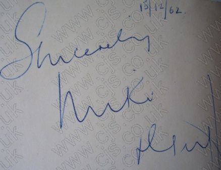 [miki and griff autograph 1960s]