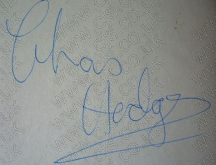 [the outlaws chas hodges autograph 1960s]