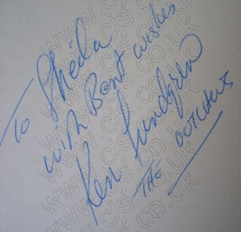[the outlaws ken lundgren autograph 1960s]