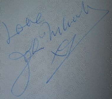 [searchers john mcnally autograph 1960s]