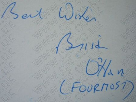 [the fourmost brian ohara autograph 1960s]