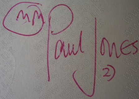 [manfred mann paul jones autograph 1960s]