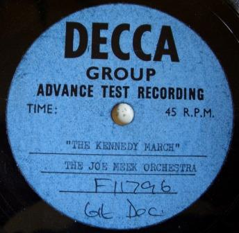 [Joe Meek Acetate - SOLD]